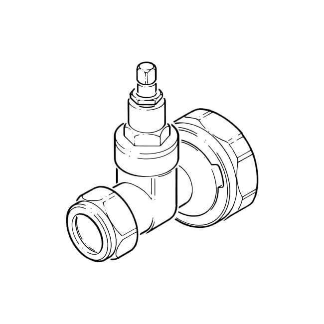 "Pump Gate Valve - 1.1/2"" x 22mm"