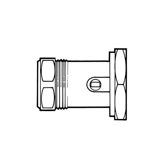 Screwdriver Operated Slotted Pump Ball Valve - 28mm