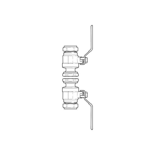 Lever Handle Ball Pump Valve - 1.1/2 x 35mm Pair