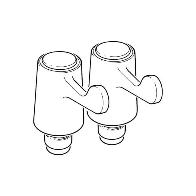 "Basin & Kitchen Lever Tap Reviver - 1/2"" Pair"