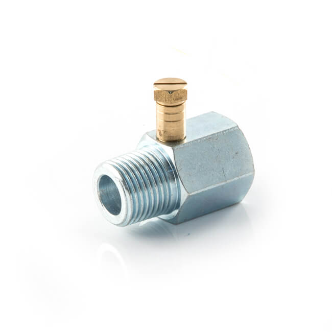 "Gas Test Point Adaptor - 1/2"" BSP TM x TF Nickel Plated"