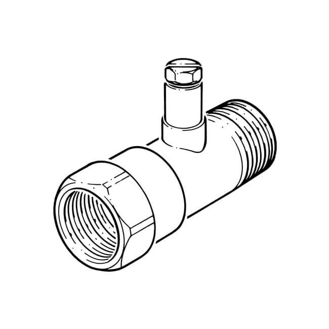 "Gas Test Point Adaptor Brass - 1/2"" BSP PM x BSP F"
