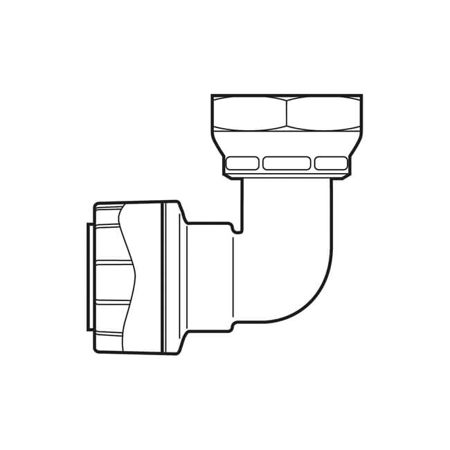 1  2 u0026quot  bsp swivel x 15 mm bent tap connector polypipe - 21280