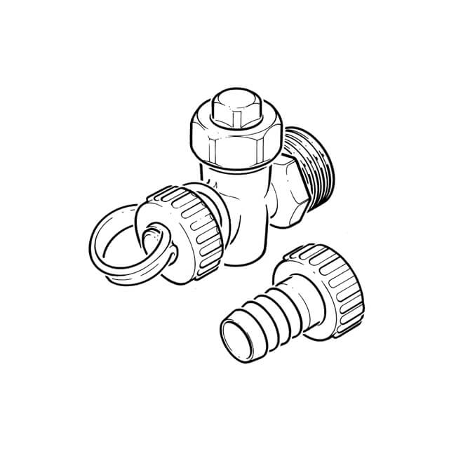 2 Bsp Water Drain Valve With Hose Tail