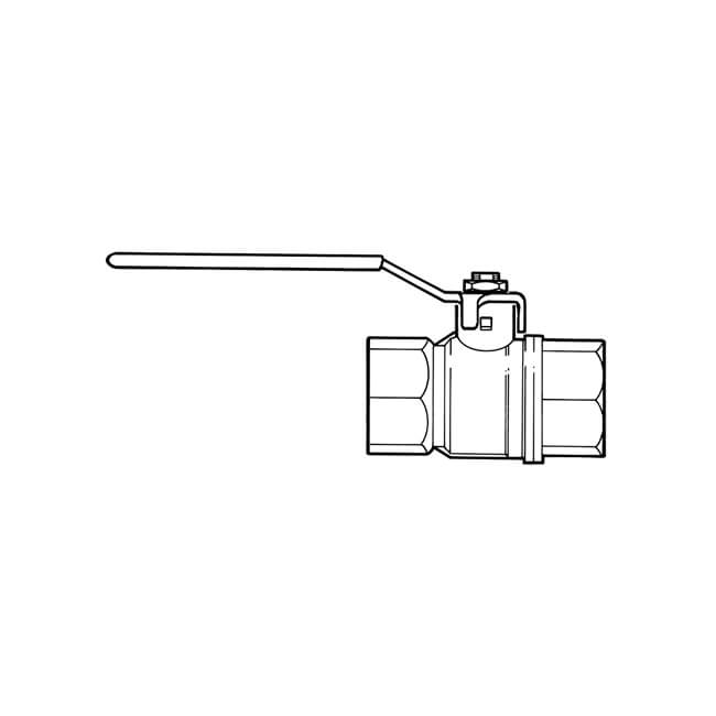 """Gas Ball Valve - 1/2"""" BSP TF Yellow Lever Handle"""