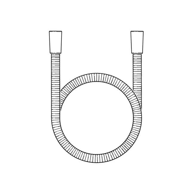 Shower Hose S/Steel - Cone x Cone, 1.75m x 11mm Bore