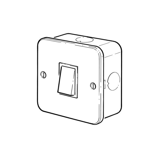 1 gang - 10 amp - 2 way surface mounted plate switch - 11510