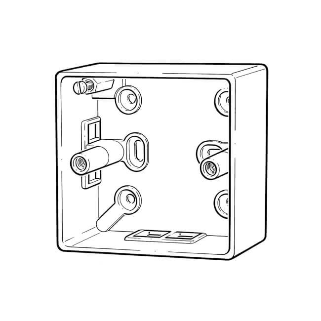 1 gang - 25 mm deep patress box - 10959