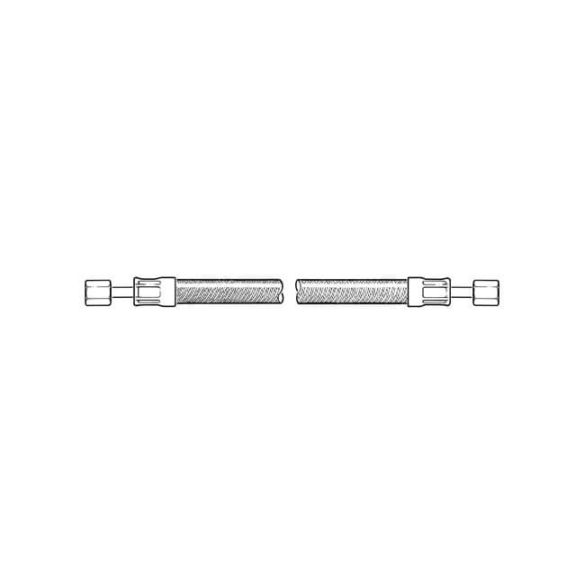 "LPG High Pressure Stainless Steel Hose - 1m x 5/16"""
