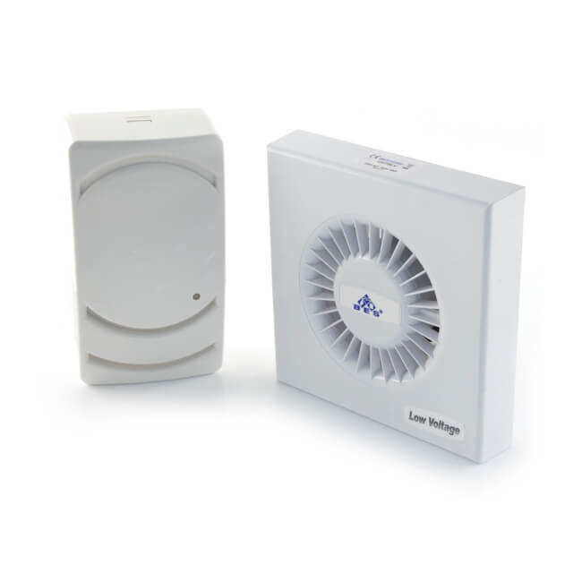 100 Mm Low Voltage Fan With Timer And Transformer Wall
