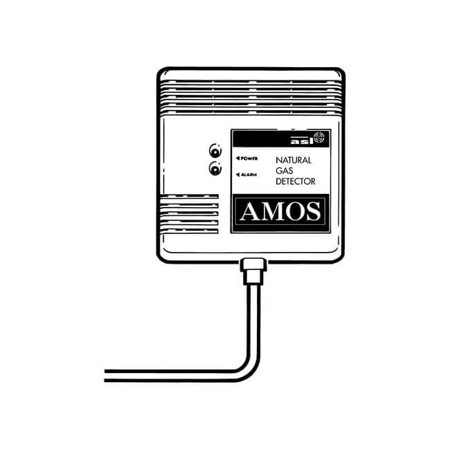 Amos Natural Gas Alarm 12V - Integral Sensor