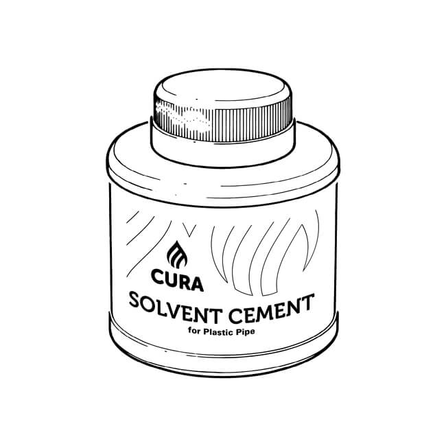 Cura Solvent Cement w/ Brush - PVCu MuPVC & ABS 125ml