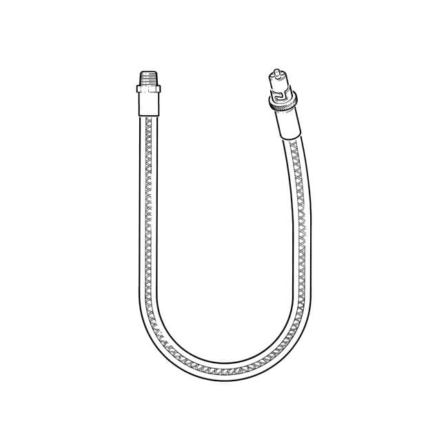 "GFS® Straight Bayonet Cooker Hose EN14800 1/2"" x 1250mm"
