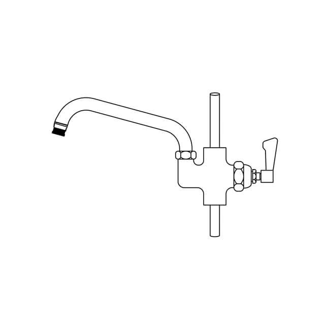 """Aquajet BF2 Lever Bowl Filling Faucet - 12"""" Spout"""
