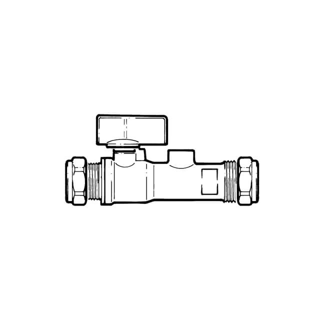 Double Check Valve with Isolation Valve - 15mm