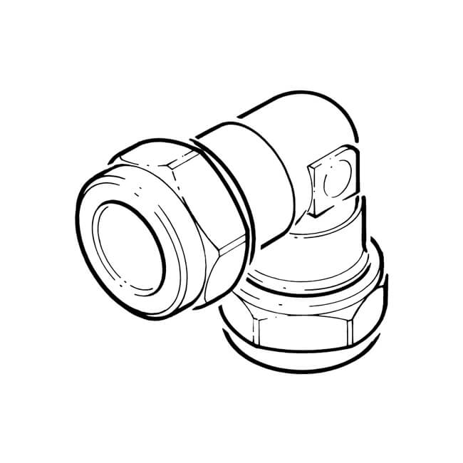LPG Metric Compression Elbow - 15mm