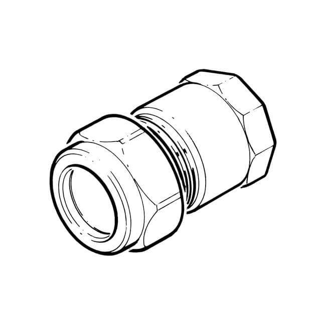 "LPG Metric Compression Straight Adaptor 15 mm x 1/2"" BSP PF"