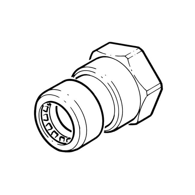 Yorkshire Endex Straight Female Connector 1 2 Available Via Pricepi