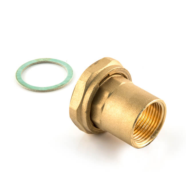 """Pump Union with Nut & Gasket 1.1/2"""" x 1"""" BSP F Long"""