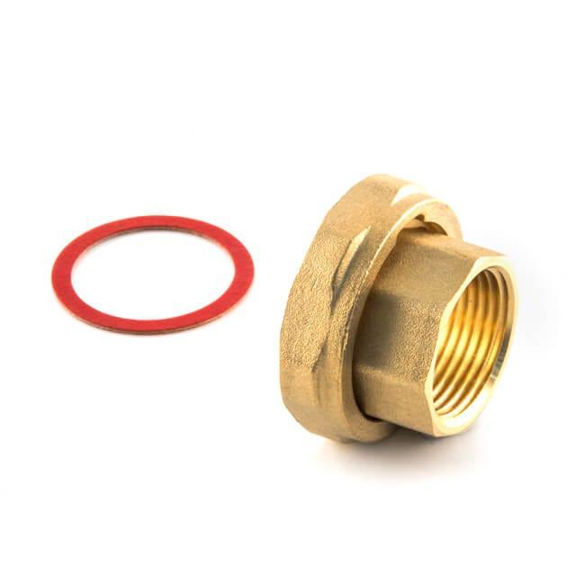"Pump Union with Nut & Gasket 1.1/2"" x 1"" BSP F Standard"