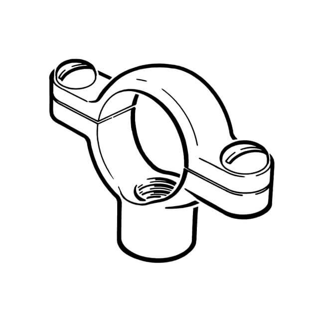 "Munsen Ring Clip - 1"" Tapped M10 Galvanised"