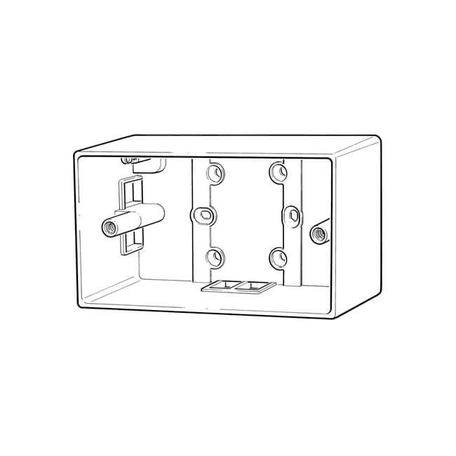2 gang - 25 mm deep patress box - 13175