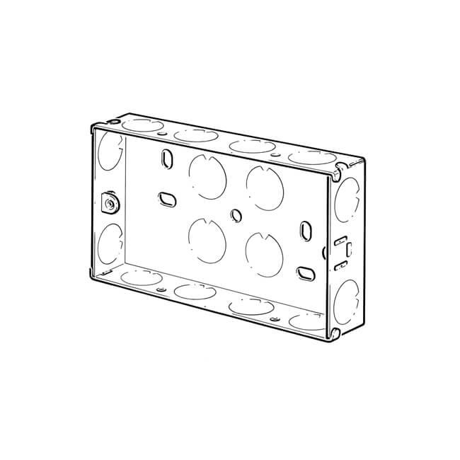 2 gang - 25 mm deep recessed box - 11517