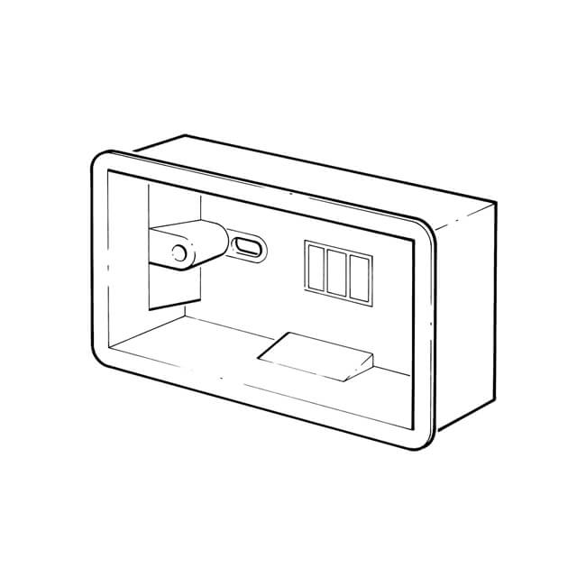 2 gang dry lining pattress box - flush fitting - 15581