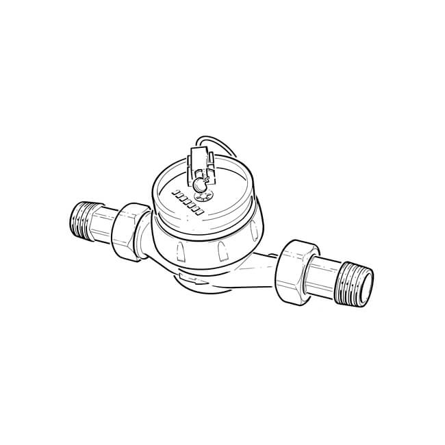 "Pulsed Hot Water Meter - 20mm, 3/4"" BSP TM"