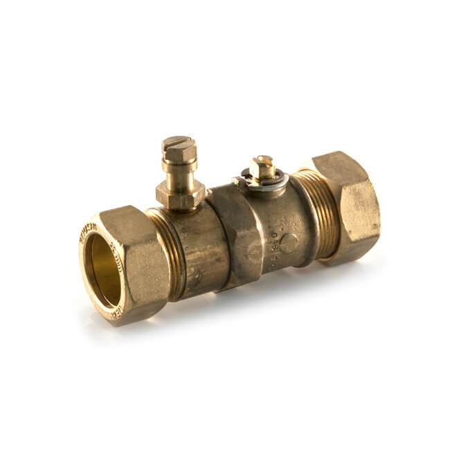 Gas Ball Valve - 22mm Compression Brass