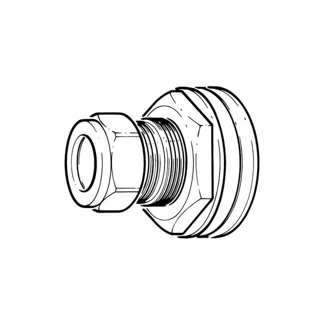 22 Mm Compression Outlet