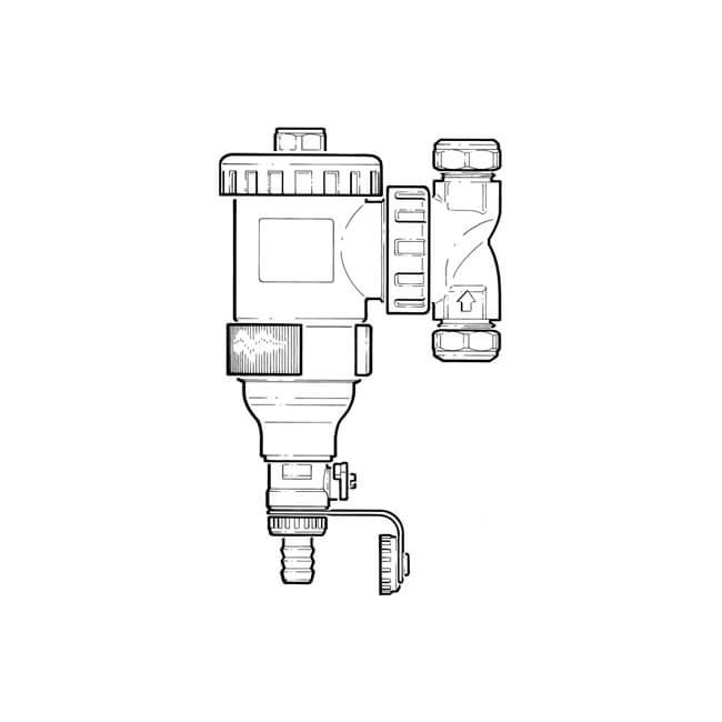 DirtmagIQ Magnetic Strainer - 22mm