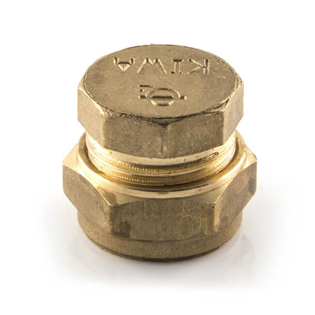 Stop End UK Compression Brass - 22mm