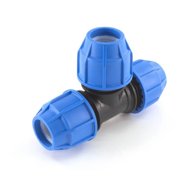 FloPlast Below Ground Equal Tee - 32mm MDPE