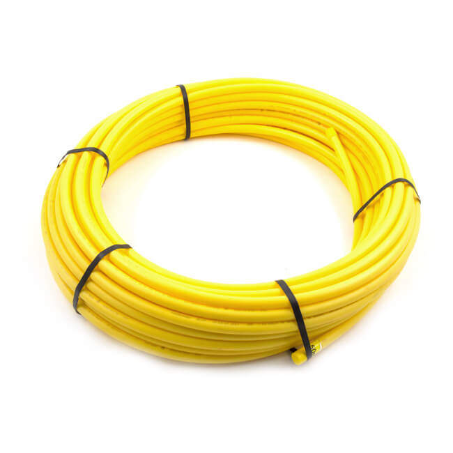Gas Pipe Coil - 25mm x 100m Yellow MDPE