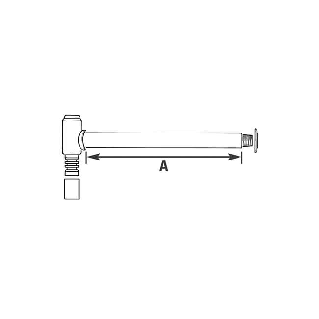 """Above-Ground Through-Wall Fitting 25mm x 3/4"""", 150mm Wall"""
