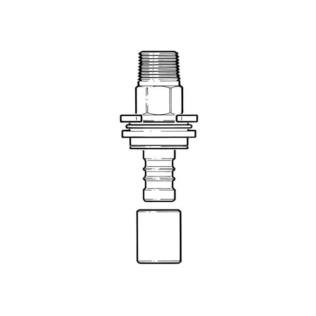 "Below Ground Meter Box Adaptor - 25mm x 3/4"""