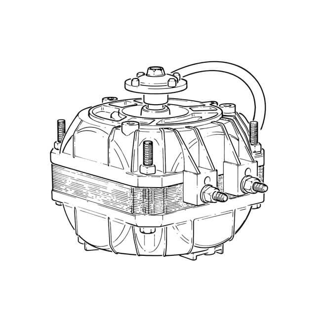 25w Universal 240 V Ac Multi Fit Fan Motor