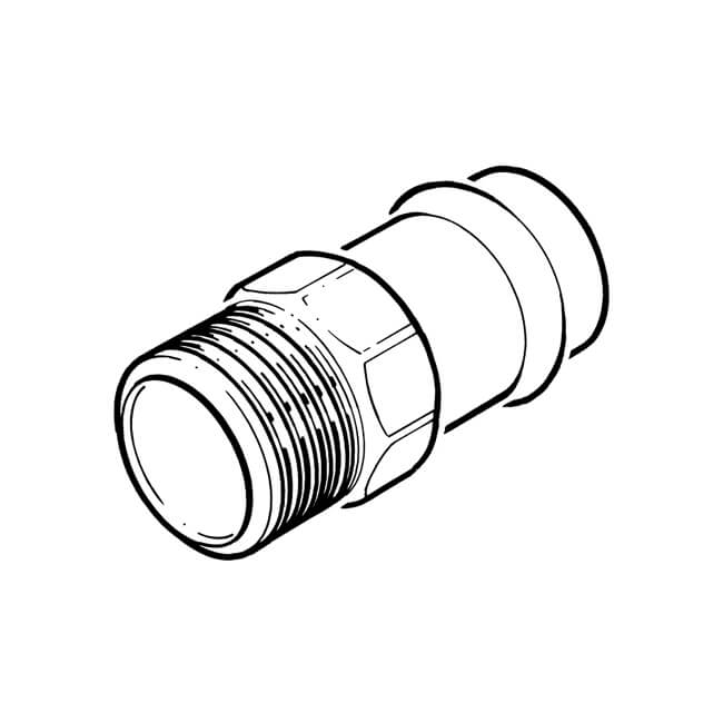 B Press Fit Straight Connector 28mm X 1 Bsp Male 15238