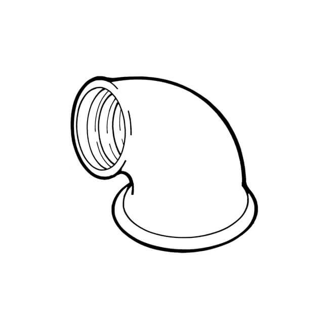 "Reducing Elbow 90° - 2"" x 1.1/2"" F Black"
