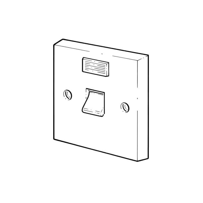 1 gang - 1 way with neon - 45 amp control switch - 10950