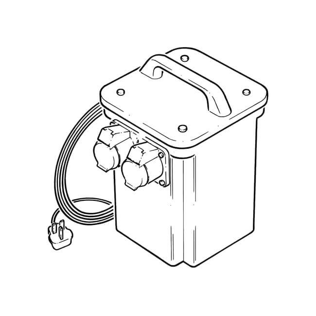 3 kva - twin socket site 110v transformer