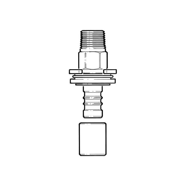 "Above Ground Crimp Meter Box Adaptor - 32mm x 1"""