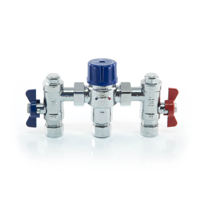 4 in 1 Thermostatic Mixing Valve TMV 2/3 - 15mm