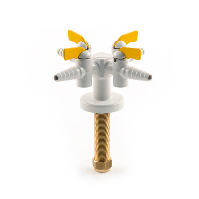 Broen 4 Way Bench Cock Tap - 90° Valves
