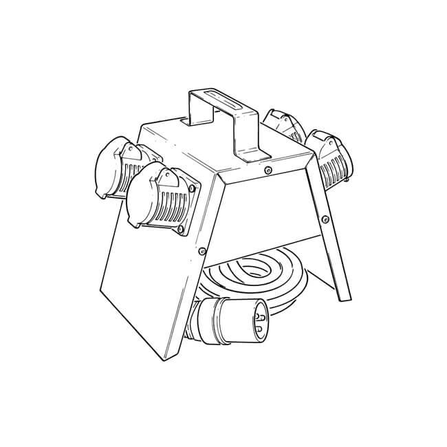 4 way electrical splitter box - 18816