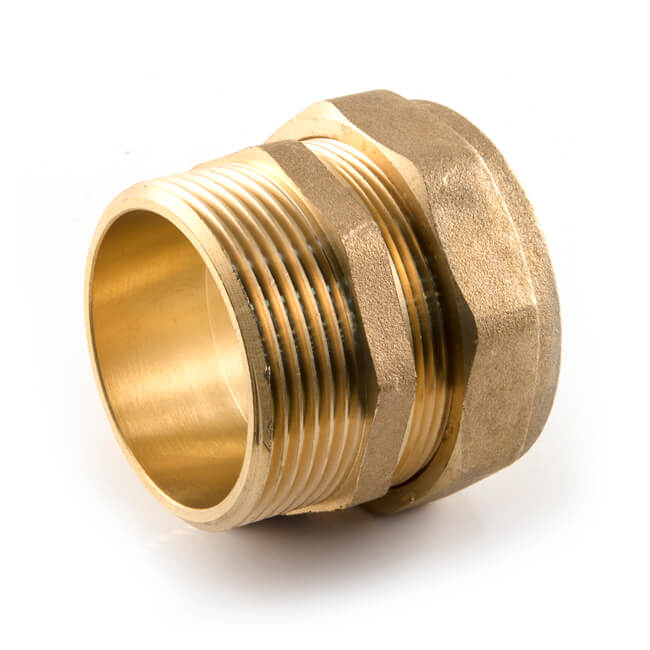 """42MM X 1.1//2/"""" COMPRESSION MALE STRAIGHT COUPLER"""