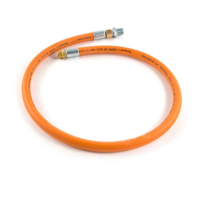 """LPG High Pressure Orange Hose - 1.2m x 1/2"""""""