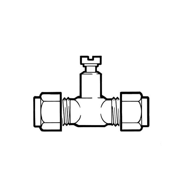 """Pressure Test Point Union - 5/16"""" Compression Brass"""