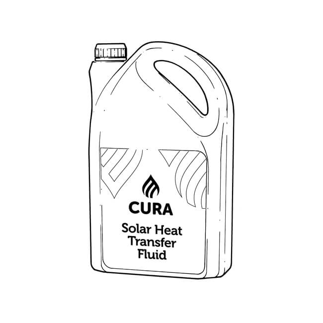 Cura Heat Transfer Fluid - 5 Litres